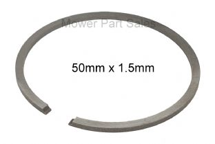 Piston Ring 50mm x 1.5mm Fits Husqvarna 371 xp, 372, 268, 268k, 66, 266, & Jonsered 2071, 670, Chainsaw & Strimmer, Replaces 503289017